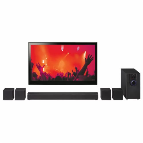 iLive 5.1 Home Theater Surround Speaker System Perspective: bottom