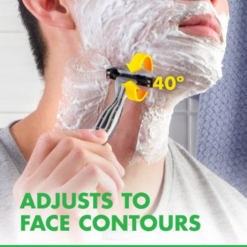 Gillette® Mach3 Sensitive Men's Disposable Razors Perspective: bottom