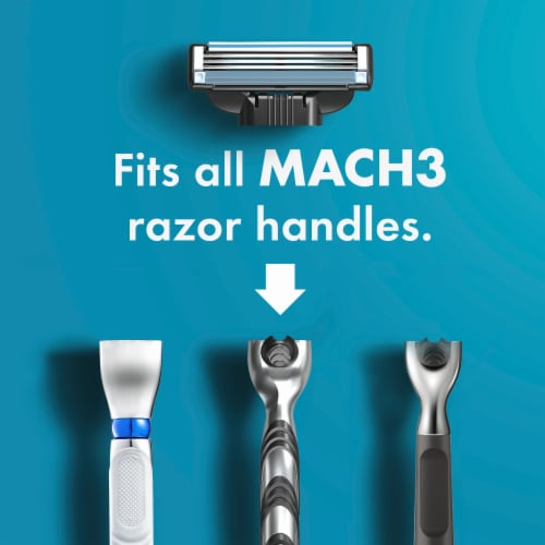 Gillette® Mach3 Men's Razor Blades Perspective: bottom