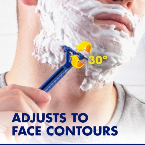 Gillette® Sensor2 Plus Lubrastrip Pivot Men's Disposable Razors Perspective: bottom