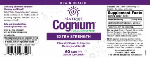 Natrol Cognium Extra Strength Tablets Perspective: bottom