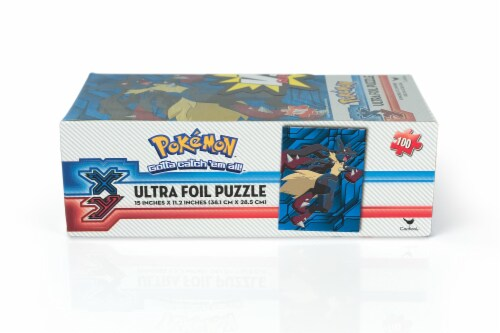 Pokemon XY VS Series Ultra Foil 100 Piece Jigsaw Puzzle Set   Includes 2 Puzzles Perspective: bottom