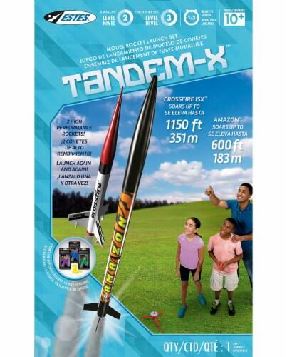 Estes Tandem-X Model Rocket Launch Set Perspective: bottom