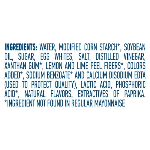 Hellmann's® Low Fat Mayonnaise Dressing Perspective: bottom