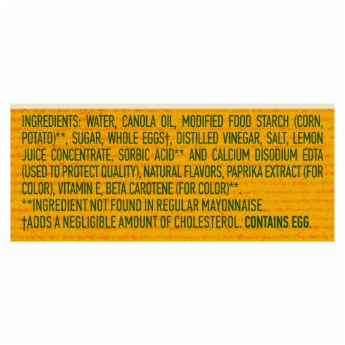 Best Foods Cholesterol Free Canola Mayonnaise Perspective: bottom