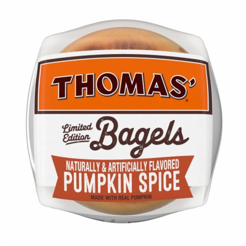 Thomas'® Limited Edition Pumpkin Spice Bagels Perspective: bottom