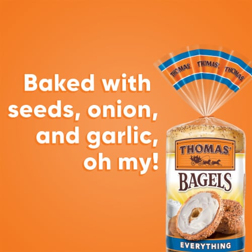 Thomas' Pre-Sliced Everything Bagels Perspective: bottom