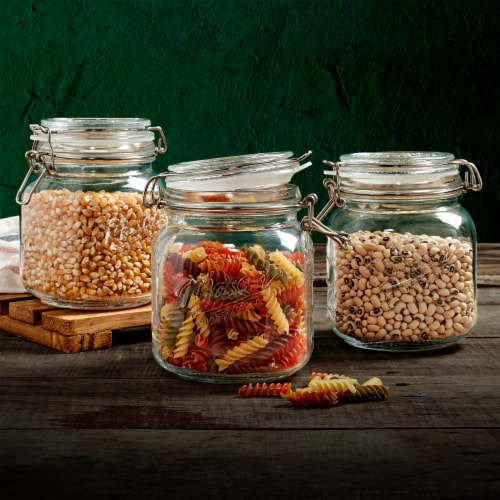 Tabletops Unlimited Mason Glass Clamp Jars Perspective: bottom