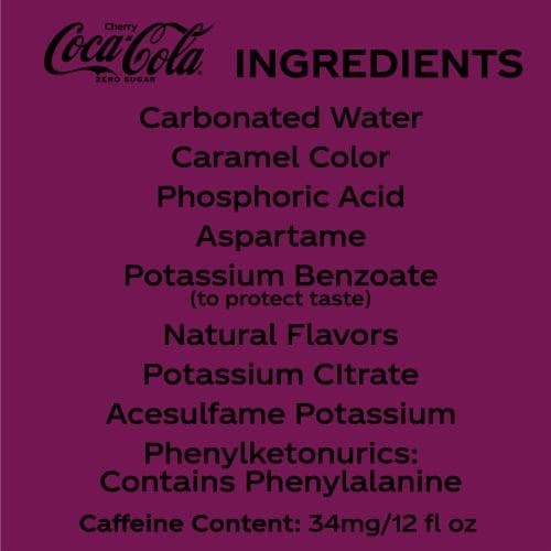 Coca-Cola Cherry Zero Sugar Soda Perspective: bottom