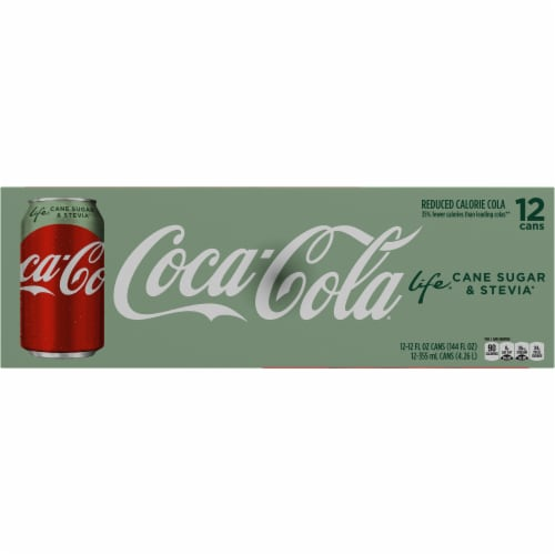 Coca-Cola Life Reduced-Calorie Soda with Stevia Perspective: bottom