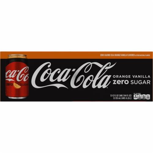 Coca-Cola Zero Sugar Orange Vanilla Cola Soda Perspective: bottom