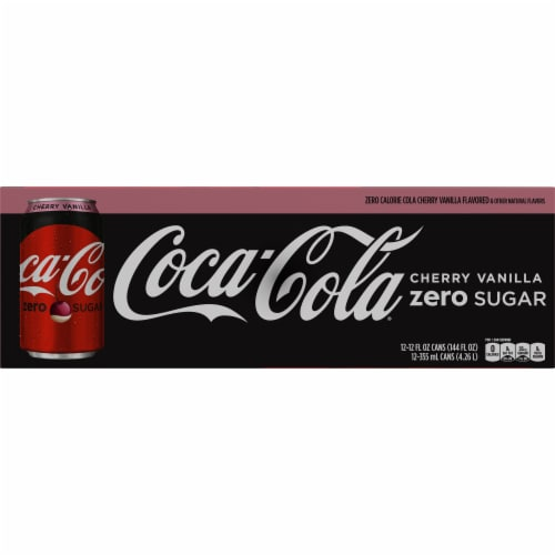 Coca-Cola Cherry Vanilla Zero Sugar Cola Soda Perspective: bottom