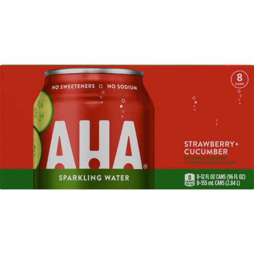 AHA Strawberry + Cucumber Sparkling Water Perspective: bottom