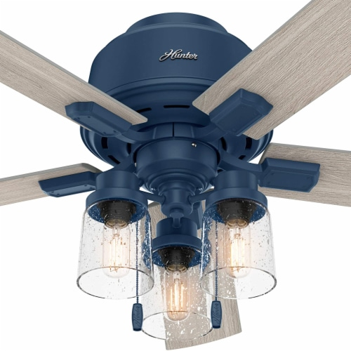 Hunter Fan Company Hartland 52  Indoor Home Low Profile Ceiling Fan w/ LED Light Perspective: bottom