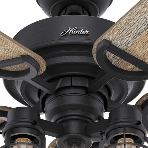 Hunter 52 Inch Starklake Indoor/Outdoor Ceiling Fan w/ 3 Lights, Natural Iron Perspective: bottom