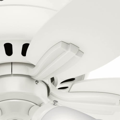 Hunter Fan Company Newsome Low Profile 42 Inch 5 Blade Ceiling Fan, Fresh White Perspective: bottom