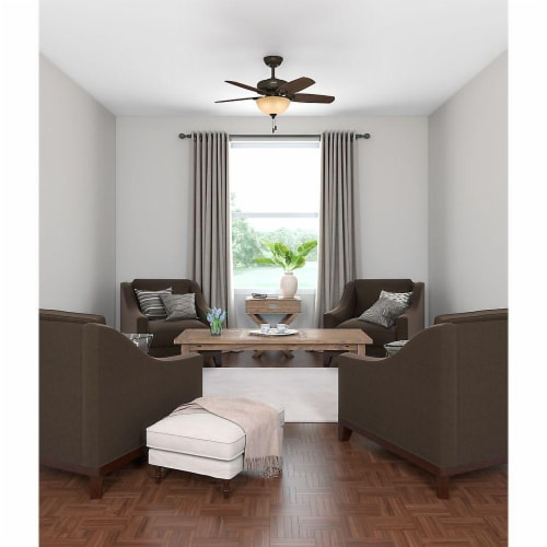 "Hunter Fan Company 52218 Builder 42"" Indoor Home Ceiling Fan w/Light, New Bronze Perspective: bottom"