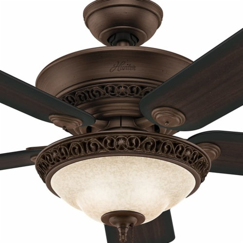 Hunter Fan Company 53200 Italian Countryside Ceiling Fan with Light, P.A. Cocoa Perspective: bottom
