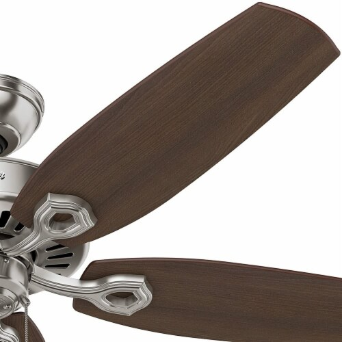 Hunter Fan Company Builder Elite Quiet Home Ceiling Fan with Pull Chain - Brushed Nickel Perspective: bottom