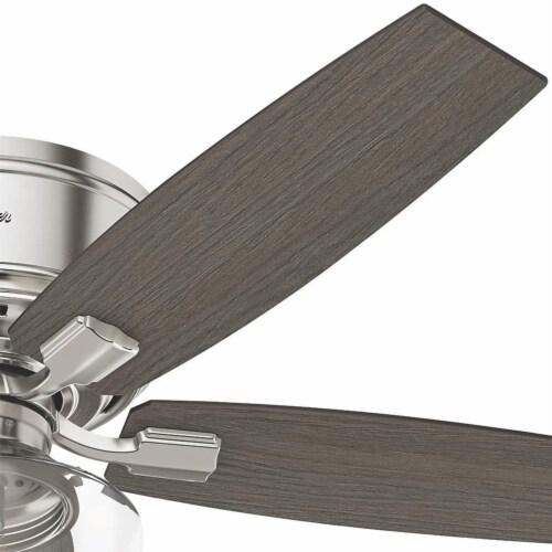 "Hunter Bennett 52"" Indoor Low Profile Ceiling Fan w/ LED Light, Brushed Nickel Perspective: bottom"