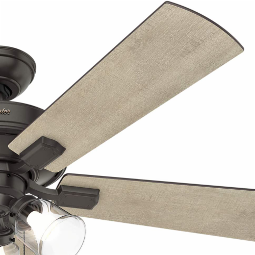 Hunter Crestfield 52 Inch Indoor Ceiling Fan with LED Lights, Noble Bronze Perspective: bottom