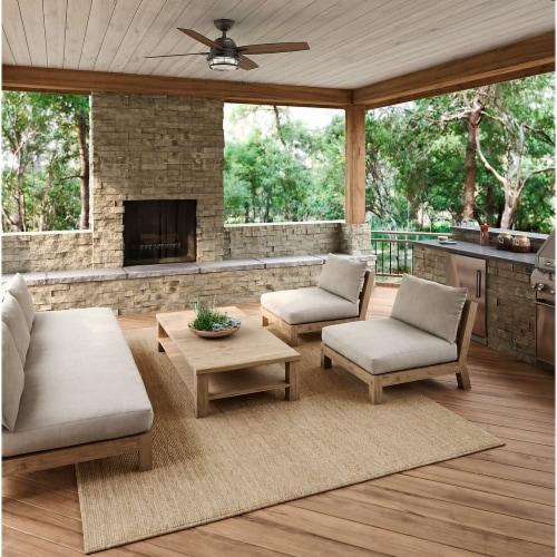 Hunter Ocala 52 Inch Indoor/Outdoor Ceiling Fan w/ LED Light, Noble Bronze Perspective: bottom