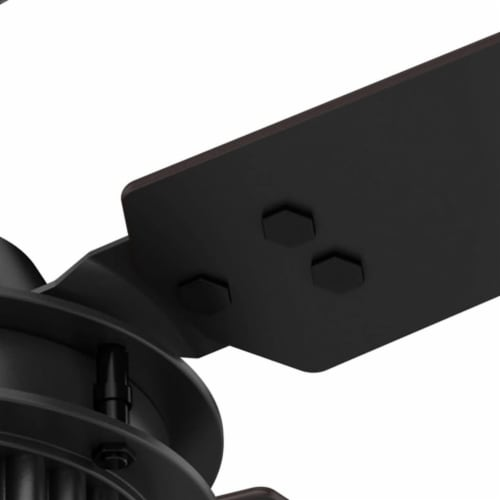 "Hunter Fan Company 54"" Chronicle Industrial Ceiling Fan w/ Control, Matte Black Perspective: bottom"