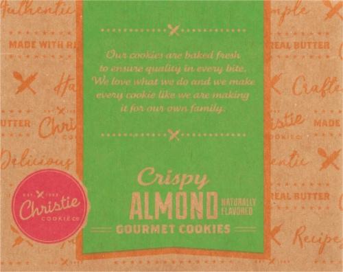 Christie Cookie Co. Crispy Almond Gourmet Cookies Perspective: bottom