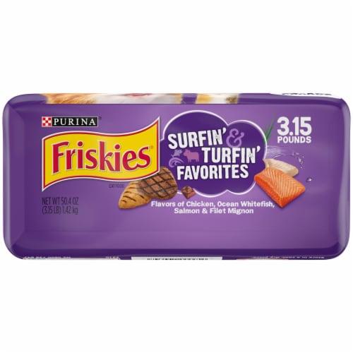 Friskies Surfin' & Turfin' Favorites Dry Cat Food Perspective: bottom