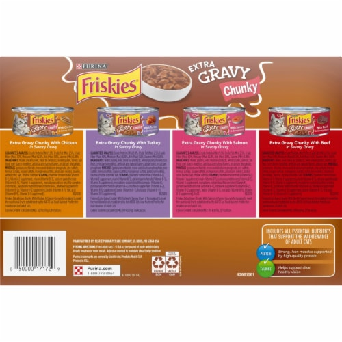 Friskies® Extra Gravy Chunky Wet Cat Food Variety Pack Perspective: bottom