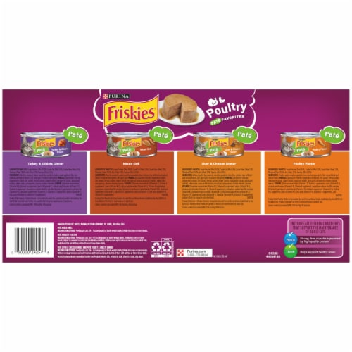 Friskies Poultry Pate Favorites Wet Cat Food Variety Pack Perspective: bottom