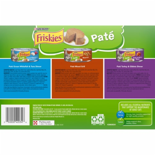 Friskies® Pate Adult Wet Cat Food Variety Pack Perspective: bottom