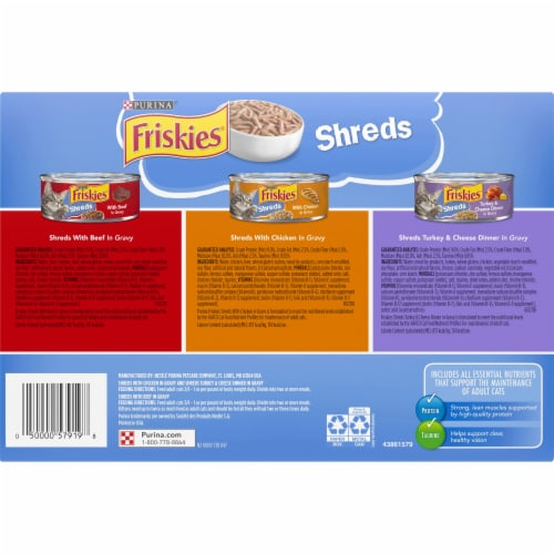 Friskies® Shreds Wet Cat Food Variety Pack Perspective: bottom