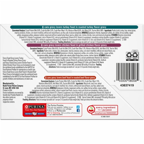 Fancy Feast Gravy Lovers Poultry & Beef Collection Variety Pack Perspective: bottom
