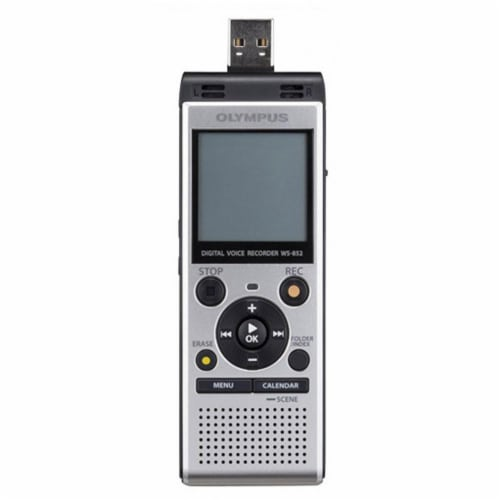 Olympus Ws-852 Digital Voice Recorder (silver) Perspective: bottom