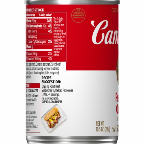 Campbell's® French Onion Condensed Soup Perspective: bottom