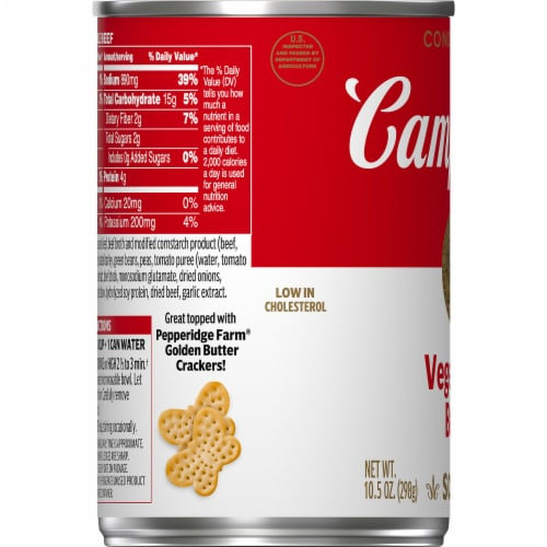 Campbell's® Condensed Vegetable Beef Soup Perspective: bottom