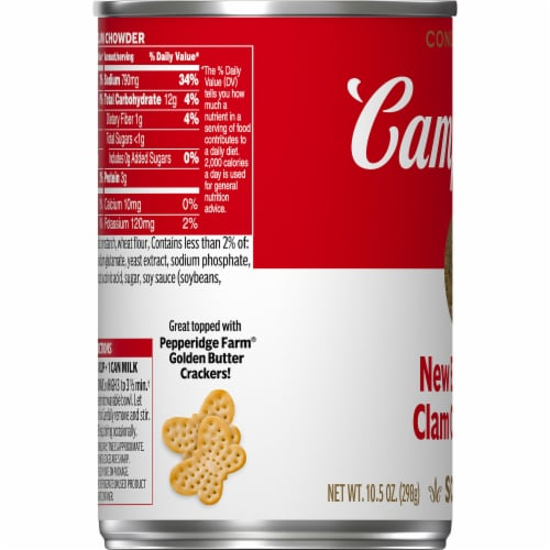 Campbell's New England Clam Chowder Condensed Soup Perspective: bottom