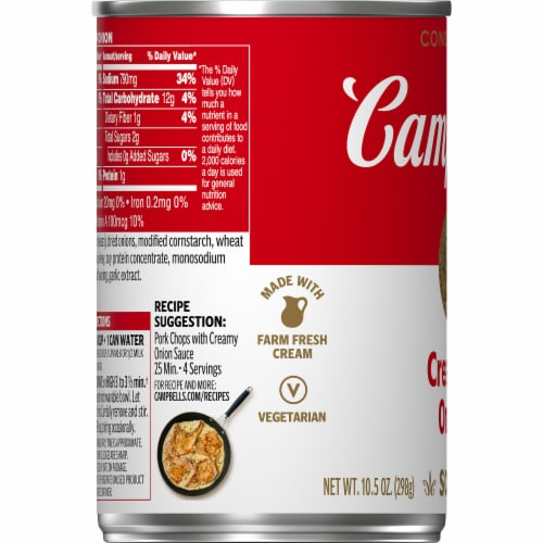 Campbell's Cream of Onion Condensed Soup Perspective: bottom