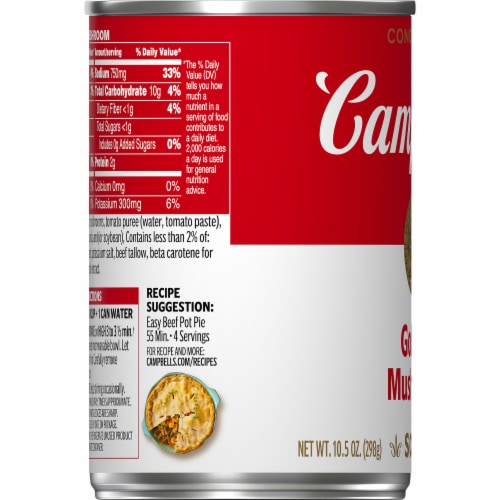 Campbell's Golden Mushroom Condensed Soup Perspective: bottom