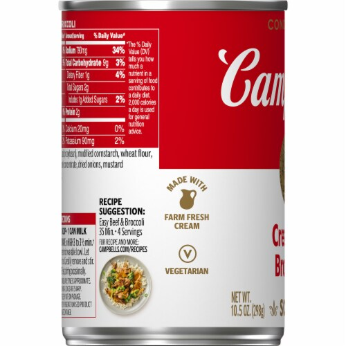 Campbell's® Cream of Broccoli Condensed Soup Perspective: bottom