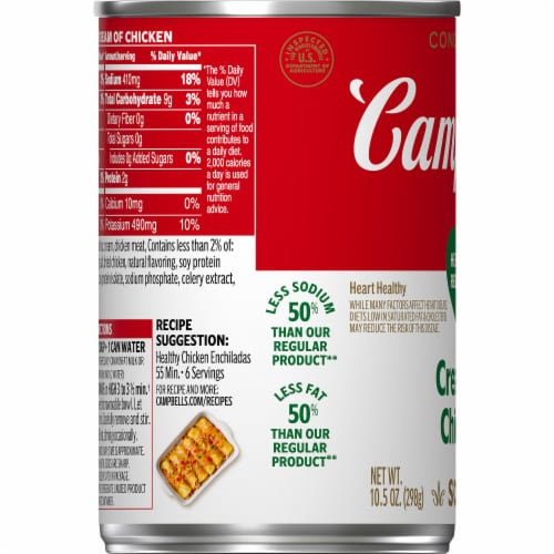 Campbell's® Condensed Healthy Request Cream of Chicken Soup Perspective: bottom