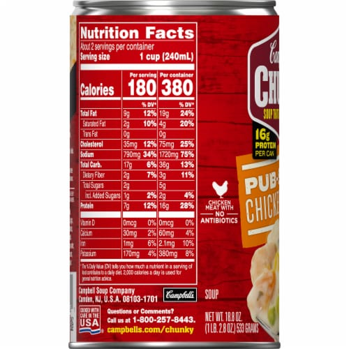 Campbell's Chunky Pub-Style Chicken Pot Pie Soup Perspective: bottom