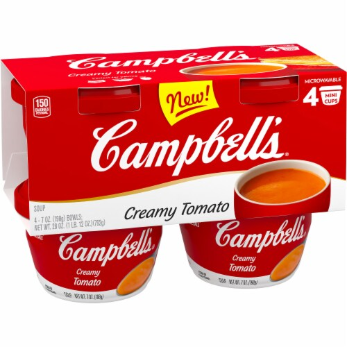 Campbell's Creamy Tomato Soup Perspective: bottom