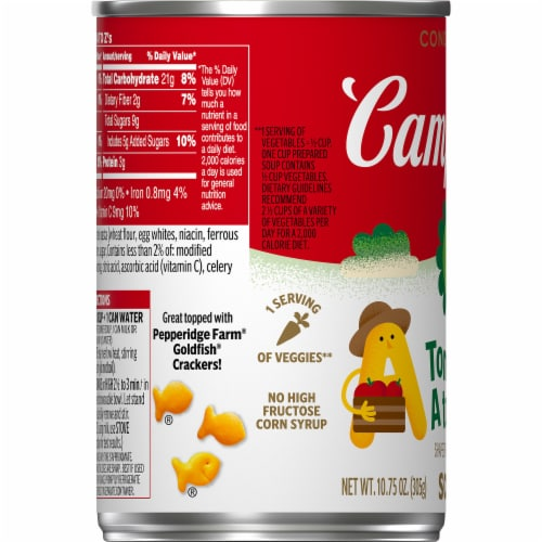 Campbell's® Tomato A to Z's Condensed Soup Perspective: bottom