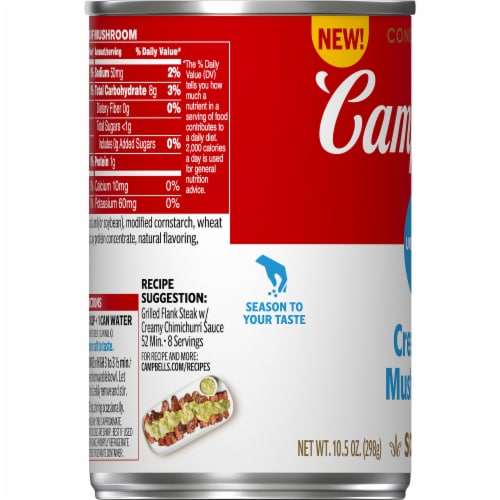 Campbell's® Unsalted Condensed Cream of Mushroom Soup Perspective: bottom