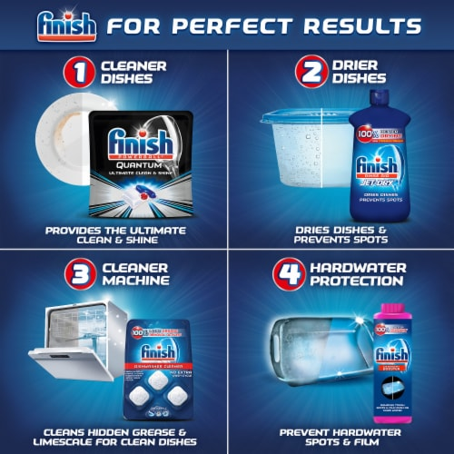 Finish Powerball Quantum Dishwasher Detergent Tabs Perspective: bottom