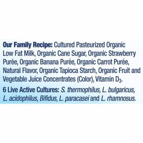 Stonyfield® Organic Kids Strawbana Yogurt Smoothie Perspective: bottom