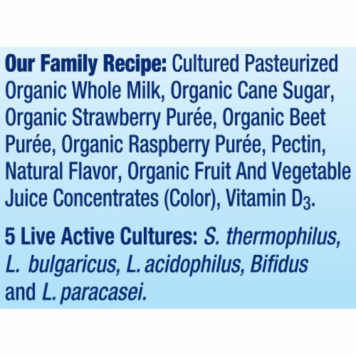 Stonyfield® Organic Strawberry Beet Berry Whole Milk Yogurt Perspective: bottom