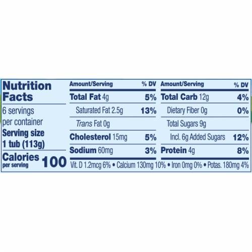 Stonyfield® Organic Kids Strawberry Banana Whole Milk Yogurt Perspective: bottom
